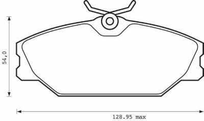 Placute frana Renault Clio 2 (Bb0/1/2, Cb0/1/2), Laguna 1 (B56, 556), Megane 1 (Ba0/1), Megane Scenic (Ja0/1), Safrane 2 (B54), Scenic 1 (Ja0/1) SRLine parte montare : Punte fata