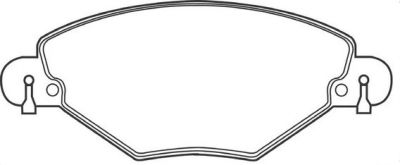 Placute frana Citroen C5 1 (Dc), C5 2 (Rc) SRLine parte montare : Punte fata