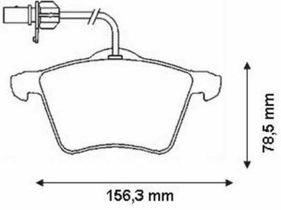 Placute frana Ford Galaxy (Wgr); Seat Alhambra (7v8, 7v9); Vw Sharan (7m8, 7m9, 7m6) SRLine parte montare : Punte fata