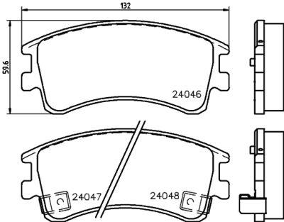 Placute frana Mazda 6 (Gg) SRLine parte montare : Punte fata