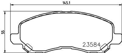 Placute frana Dodge Avenger, Caliber; Jeep Compass (Mk49), Patriot (Mk74) SRLine parte montare : Punte fata