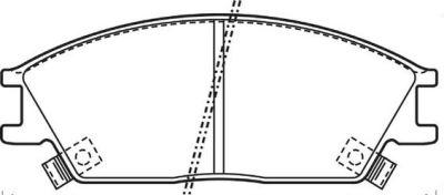 Placute frana Hyundai Accent 1 (X-3), Accent 2 (Lc), Accent Limuzina (X-3), Getz (Tb), Lantra 1 (J-1), Lantra 2 (J-2), Pony (X-2), S Coupe (Slc) SRLine parte montare : Punte fata