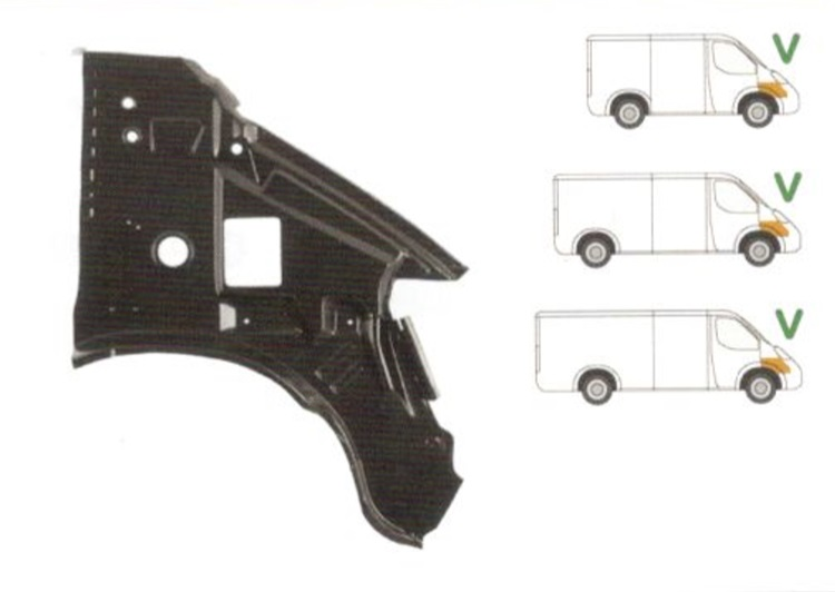 Element reparatie caroserie Mercedes Sprinter (901, 902, 903, 904, 905) parte montare : Dreapta, Fata