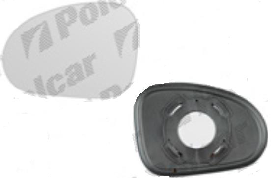 Geam oglinda Daewoo Matiz I (Klya/M100) 01.1998-12.2008 partea stanga Best Auto Vest crom convex fara incalzire