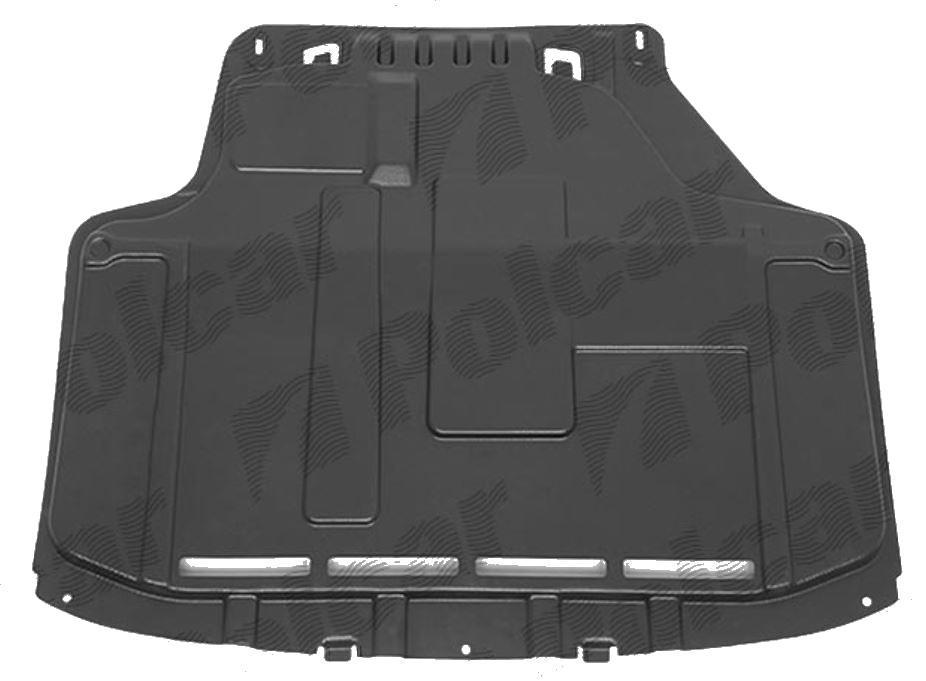 Scut motor Ford Fiesta (Ja8), 09.2008-01.2013, Fata, 1699688, 323834-6 motorizare fara DPF fara gauri, ABS+PVC