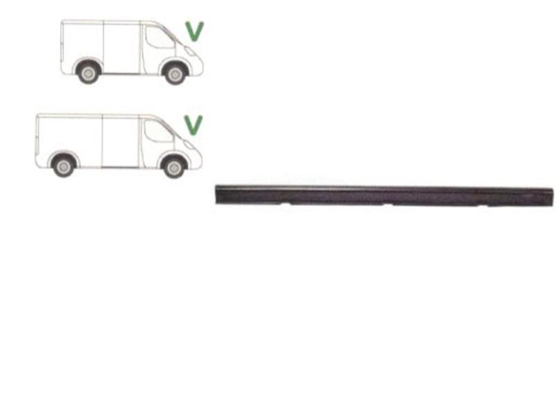 Prag Ford Transit (Ve6) 1986-1991, TRANSIT (VE64), 01.91-09.94, TRANSIT (VE83), 06.94-07.00 Dreapta sub usa culisanta, prag din metal