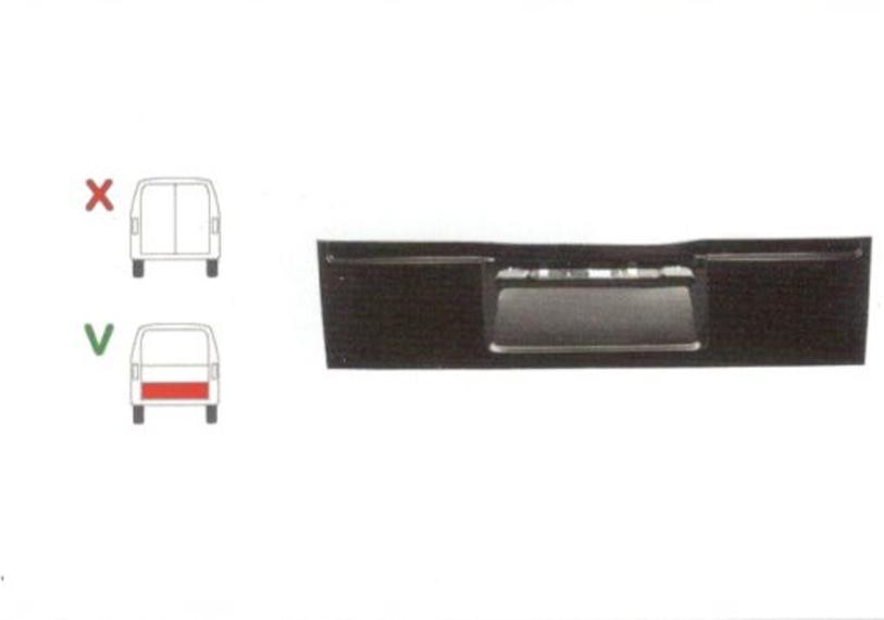 Element reparatie usa Ford TRANSIT (VE6/VE64/VE83), 10.1985-09.1994 pt modele cu haion, partea , usa spate ; haion,inaltimea 45 cm, parte inferioara,