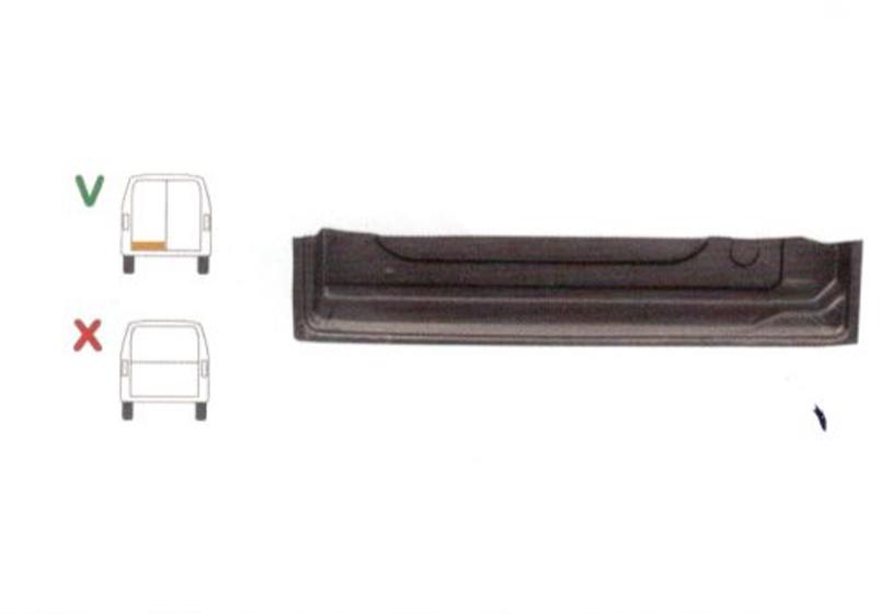 Element reparatie usa Ford TRANSIT (VE6/VE64/VE83), 10.1985-07.2000 pt modele cu 2 usi spate, partea stanga, inaltime 160 mm, parte inferioara, jgheab, usa spate,