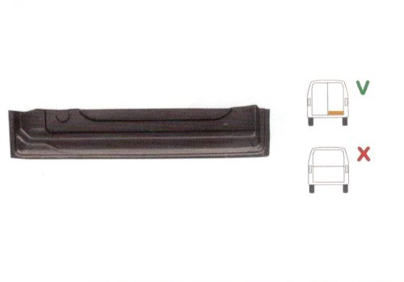 Element reparatie usa Ford TRANSIT (VE6/VE64/VE83), 10.1985-07.2000 pt modele cu 2 usi spate, partea dreapta, inaltime 157 mm; parte inferioara; usa spate ,jgheab,