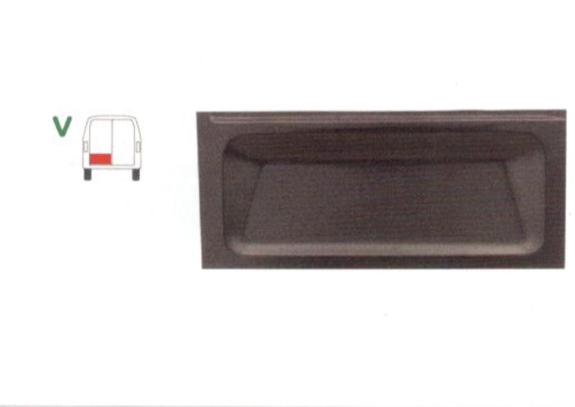 Panou reparatie usa Ford TRANSIT (VE6/VE83/VE64), 10.1985-09.1994 Model cu 2 usi spate, partea stanga, parte inferioara , usa spate; 385 mm,