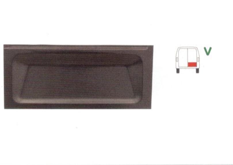 Panou reparatie usa Ford TRANSIT (VE6/VE83/VE64), 10.1985-09.1994, partea dreapta, parte inferioara ,usa spate; 385 mm,
