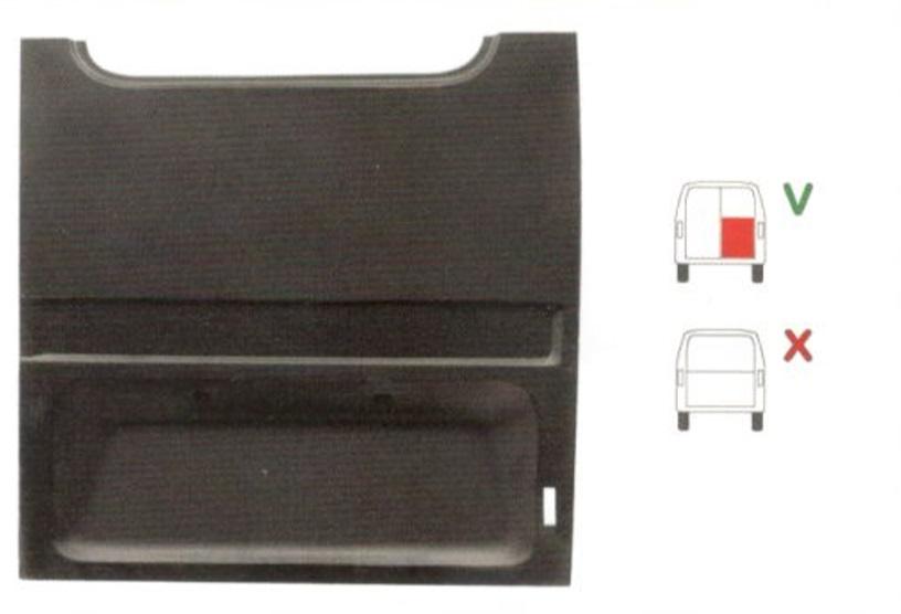 Element reparatie usa Ford TRANSIT (VE6/VE64/VE83), 10.1985-09.1994 (pt modele cu 2 usi spate), partea dreapta, usa spate, pana la geam,,