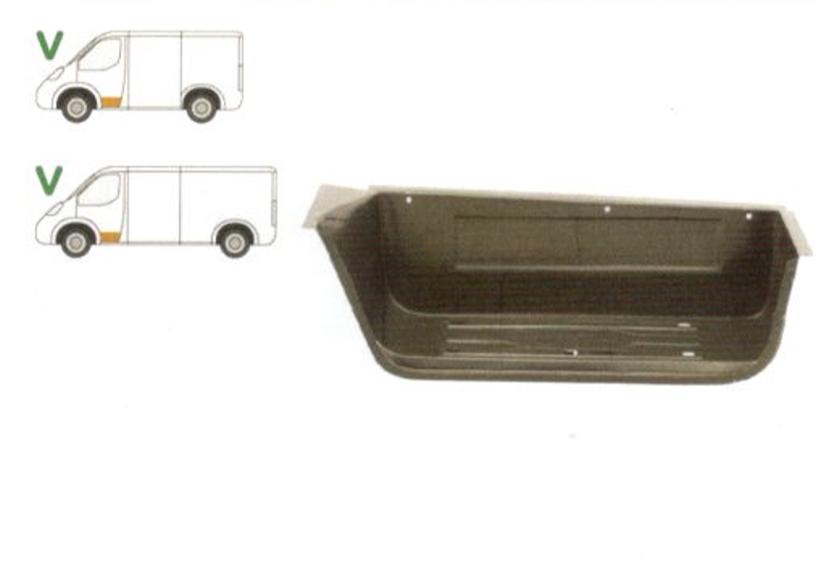 Treapta usa Ford Transit (Ve6) 10.1986-01.2000, Transit (Ve64) 01.1992-09.2000, Transit (Ve83) 06.1986-07.2000 , partea Fata Stanga, Mare,