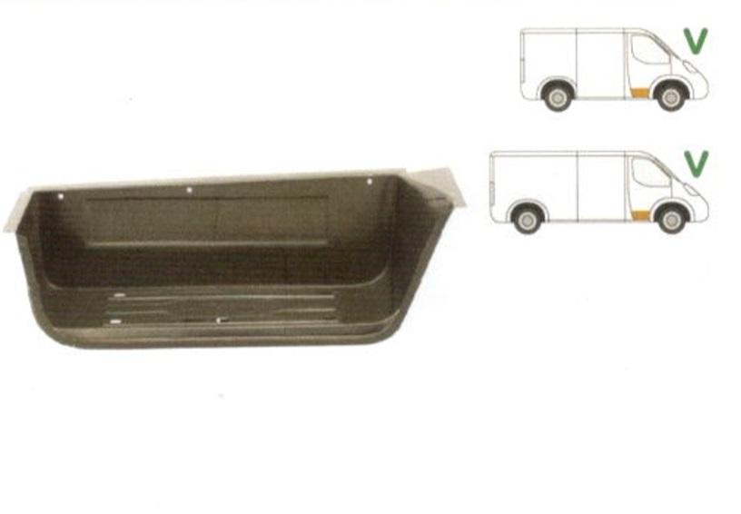 Treapta usa Ford Transit (Ve6) 10.1986-01.2000, Transit (Ve64) 01.1992-09.2000, Transit (Ve83) 06.1986-07.2000 , partea Fata Dreapta, Mare,