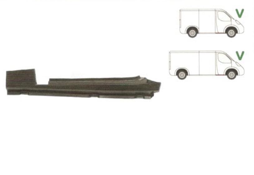 Prag Ford Transit 1992-2000 Usa Fata Dreapta, orizontal, sub usa fata, prag din metal