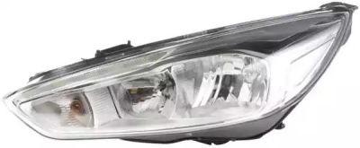 Far Ford Focus III, 10.2014-, partea Stanga, electric, cu lumini de zi pe LED, tip bec H1+H7, negru, Visteon