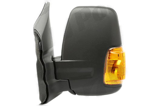 Oglinda exterioara Ford Transit/Tourneo, 01.2014-, Ford Transit/Tourneo, 01.2014- , partea Stanga, culoare sticla crom, sticla convexa, carcasa cu textura,