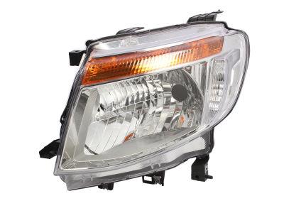 Far Ford Ranger, 04.2011-05.2016, partea Stanga, manual/electric, tip bec H4, fara lumini de zi, SILVER, fara motoras, Depo