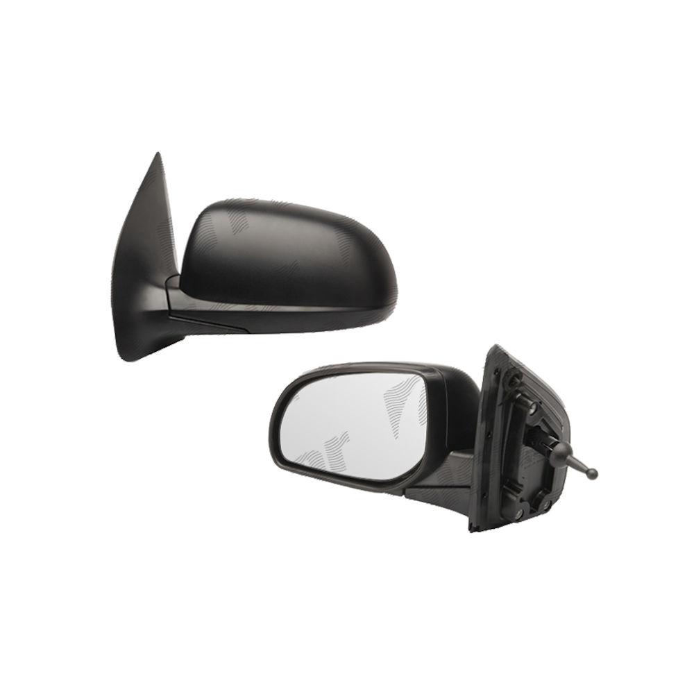 Oglinda exterioara Hyundai I20 (Pb) 2008-2014, Getz (TB) 09.2005-12.2011 , Dreapta, Crom, manuala,prin cablu, Fara incalzire, carcasa neagra, Convex, Aftermarket 87620-1J000 4017522S