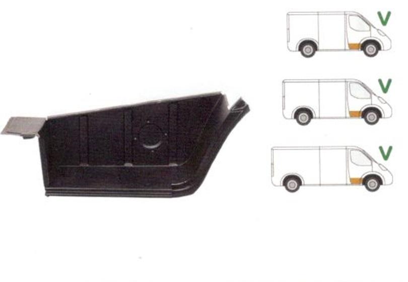 Treapta usa Mercedes 207-410 1977-1995 , partea Fata Dreapta, Fara Intaritura; Mic,