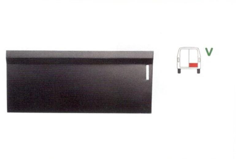 Panou reparatie usa Mercedes 207-410, 1977-1995 modele cu 2 usi spate, partea dreapta, parte inferioara usa spate 1/3, inaltime 330mm,