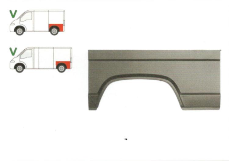 Segment reparatie aripa spate Peugeot J5, Citroen C25, Fiat Ducato 11.1981-1994 Partea Stanga, Spate, lungime 1165 mm , inaltime 543 mm,
