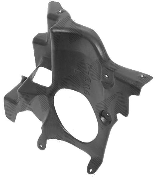 Scut motor Peugeot 206 (2), 01.1998-04.2009, lateral Dreapta Fata, 7013X5, 572334-8