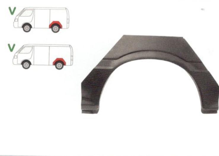Segment reparatie aripa spate Toyota Hiace, 1989-1995 Partea Stanga, Spate,