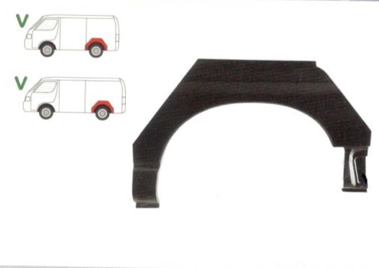 Segment reparatie aripa spate Toyota HI-ACE, 1996-2006, Partea Stanga, Spate,