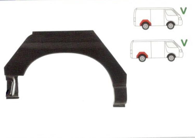 Segment reparatie aripa spate Toyota HI-ACE, 1996-2006 Partea Dreapta, Spate,