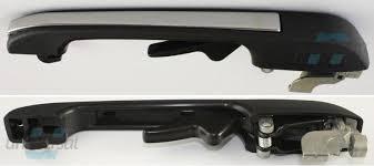 Maner usa exterior Vw Golf 2 (19e/1g), 1984-1992, Vw Jetta (16e/19e /1g2), 1984-1989, Vw Passat/Santana (B2 (32b)), 1981-1988, ornament negru + crom, placa neagra, 193.839.206/G/173.839.206E, usa spate partea Dreapta