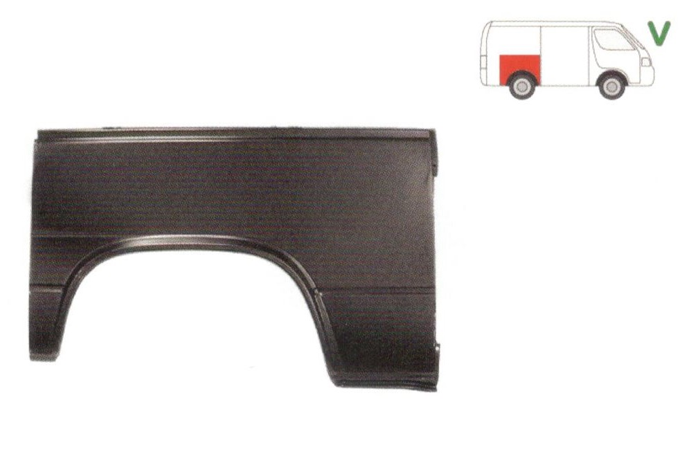 Aripa spate Vw Transporter T3, 07.1979-1992 Partea Dreapta, Lungime 1160 Mm, Inaltime 685 mm,