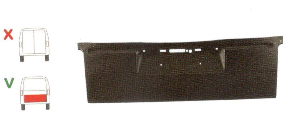 Segment reparatie haion spate Vw Transporter T4, 1990-2003, Partea Centru, Spate, inaltime 425 mm, pentru modelul cu o usa spate (haion)