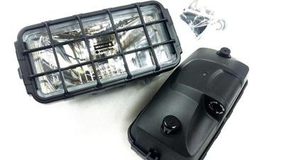 Far de drum , Proiector Universal Stanga/ Dreapta Wesem Rectangular 12/24V 182X86X81Mm Tip Bec H3, Carcasa Neagra , 1Buc
