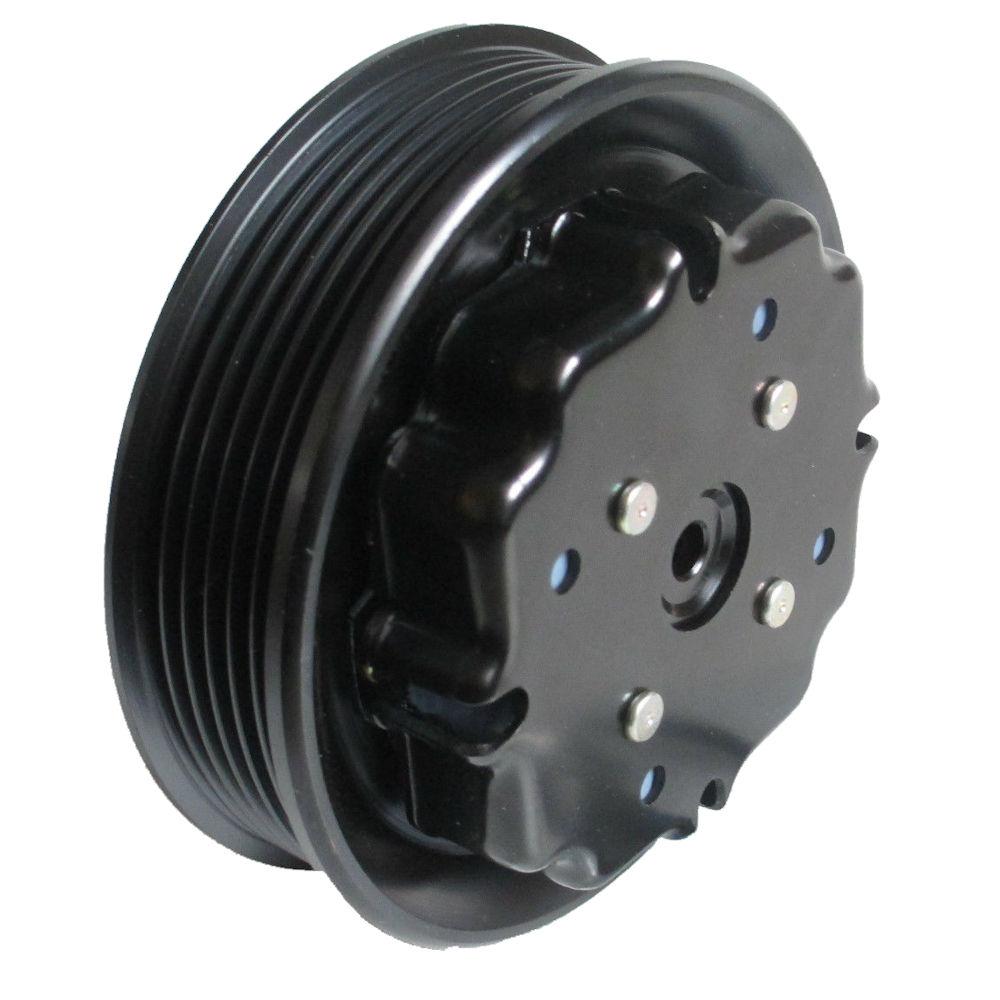 Ambreiaj compresor aer conditionat, fulie AC Mercedes Clasa C (W203) 2000-2007, motor Tip: C 180 (203.035); C 180 Kompressor (203.046); C 200 / C 200 CGI Kompressor (203.042/203.045/203.043); rulment 35x52x22, diam. fulie 110mm, tip: 7SEU17C CU 6 NERVURI