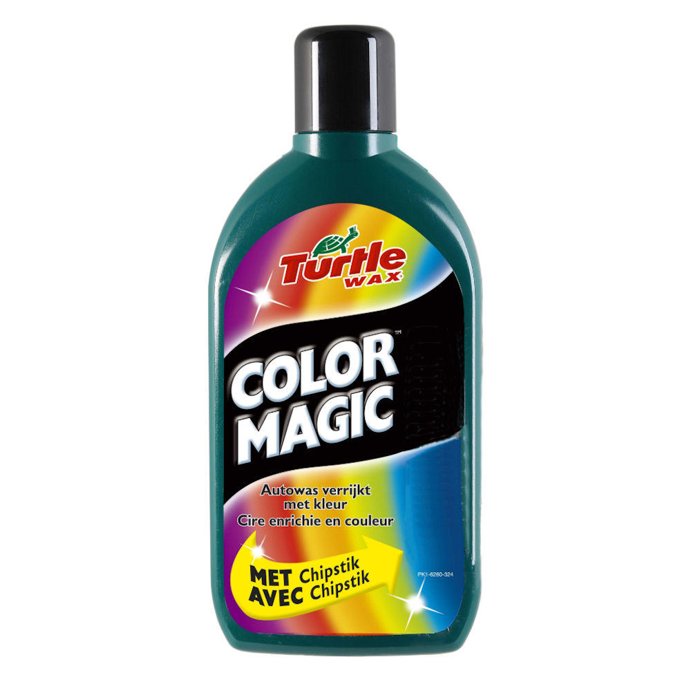 Solutie polish auto Turtle Wax Color Magic Plus Verde Inchis 500ml