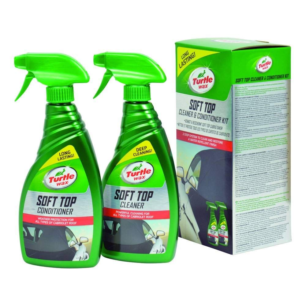 Solutie curatare si intretinere Soft-Top Turtle Wax Soft top & Cabrio system 500+500 ml