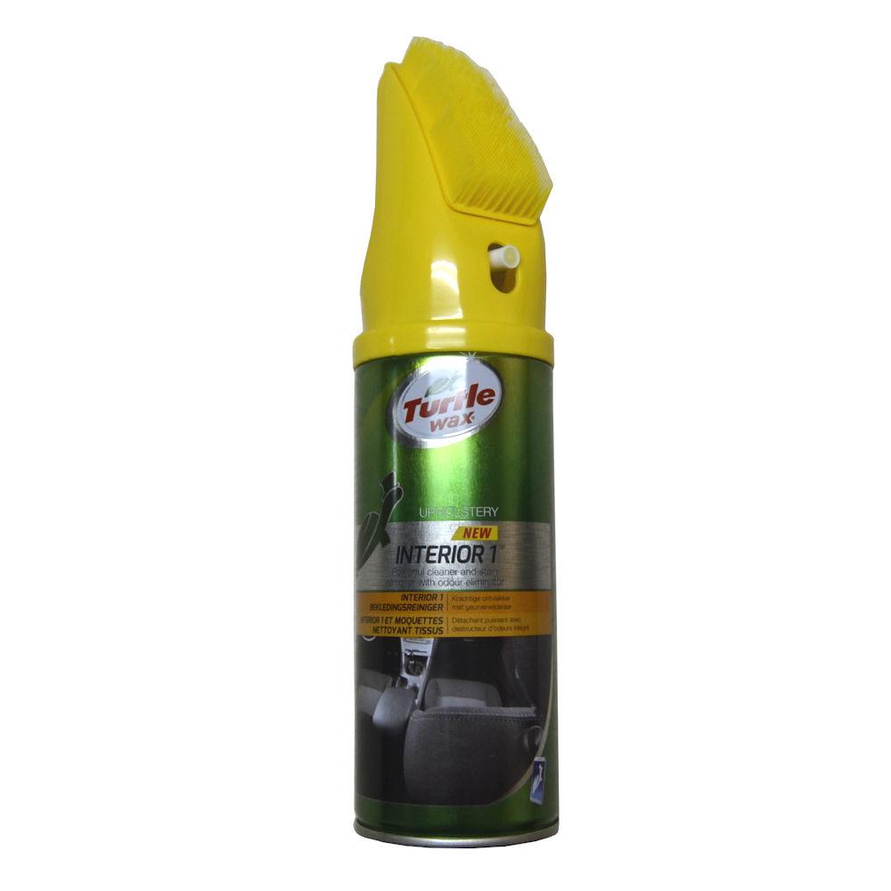 Spray curatat tapiteria Turtle Wax pentru curatat mochete si scaune spuma cu perie , 400 ml