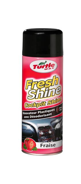 Spray silicon bord Turtle Wax Cockpit Fresh Capsuni 500ml pt. vinil plastic si cauciuc cu parfum de lunga durata