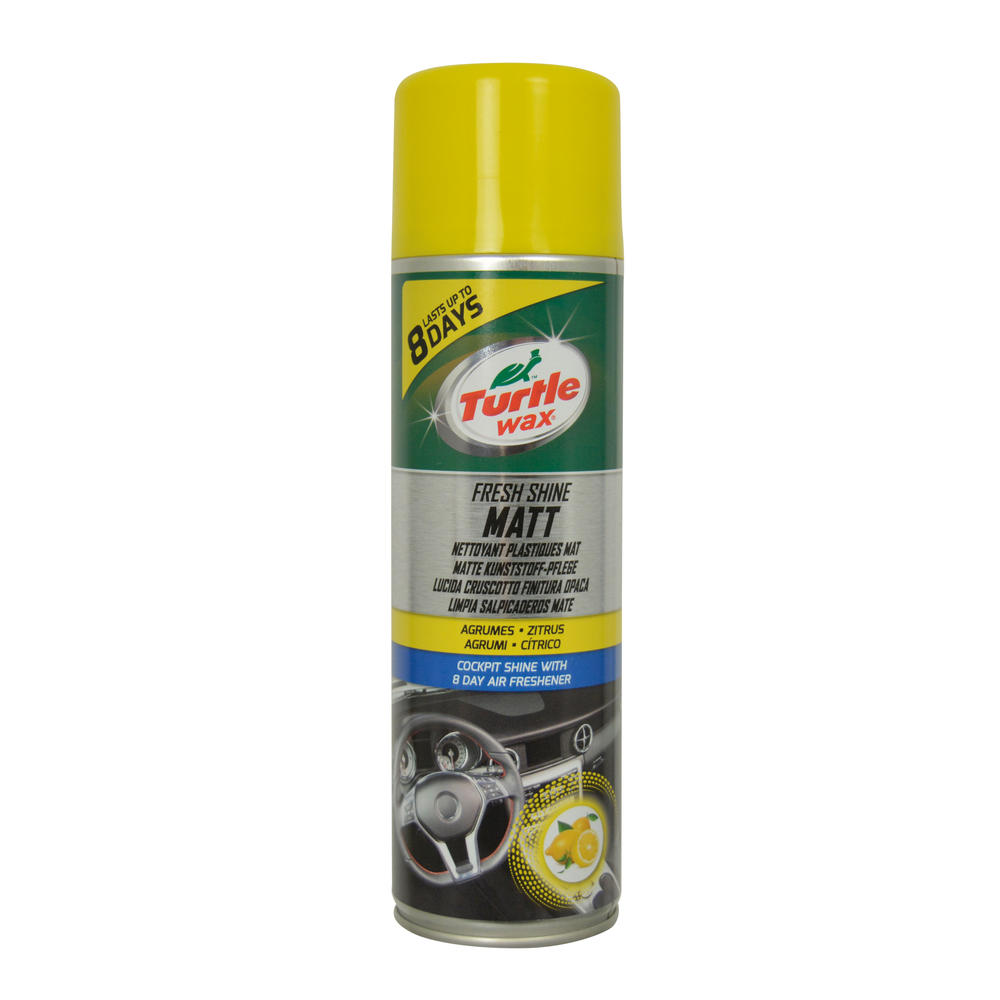 Spray curatat bord Turtle Wax Fresh Shine Matt 500ml pt. elemente plastic , cu parfum de lunga durata