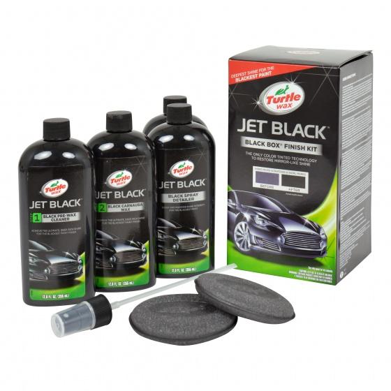 Set Polish auto Turtle Wax Black Box Kit, Ceara Auto Carnauba - Culoare Negru , 52989