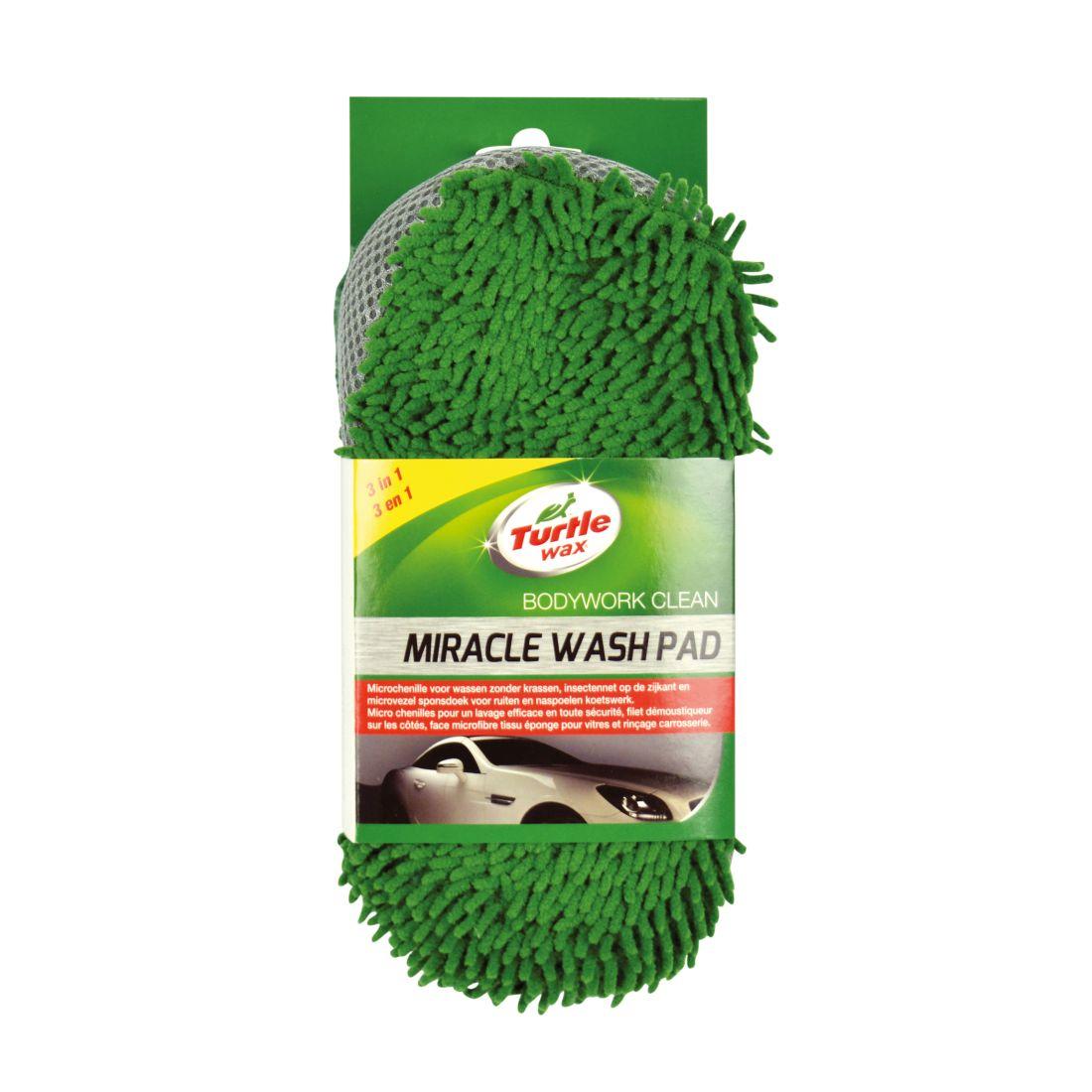 Pad microfibre Turtle Wax X1186TD Washing Pad Miracle, cu doua fete, pentru spalat auto