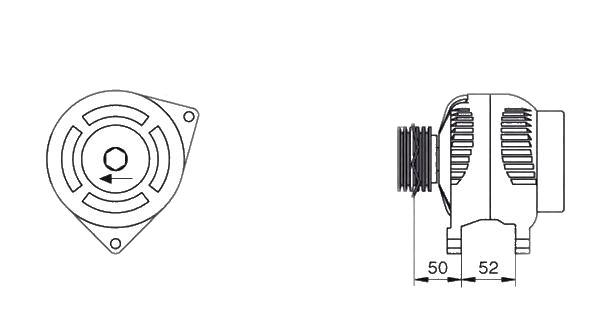 Alternator Magneti Marelli 063377443010 MAN7443