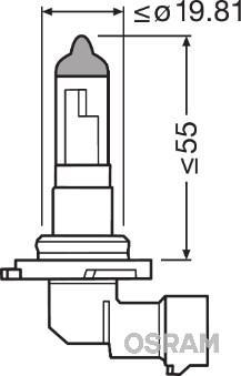 Bec H10 (9145) , OSRAM 99ZS017A