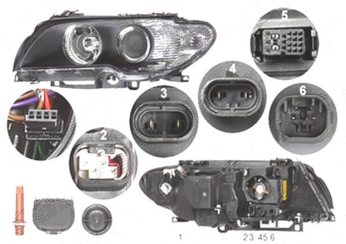 Far Bmw Seria 3 (E46), Coupe 03.2003-09.2006, fata, Stanga, coupe, xenon; D2S+H7; electric; semnalizare alba, rama reflector negru; cu motor, DEPO