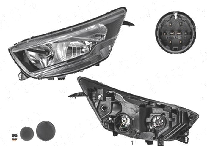 Far Iveco Daily, 07.2014-, fata, Stanga, cu daytime running light; H1+H7+W21W+W5W; electric; fara motoras, TYC