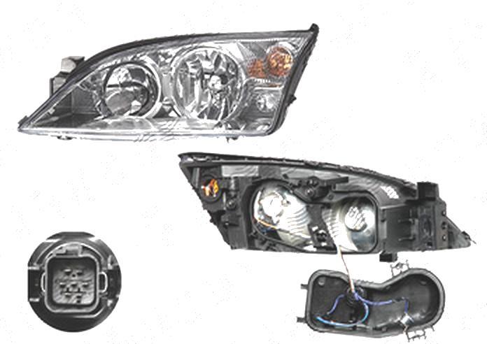 Far Ford Mondeo (B4y/B5y/Bwy), 10.2000-03.2007, fata, Stanga, H1+H7+PY21W+W5W; electric; fara motoras, DEPO
