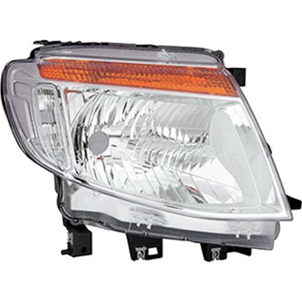 Far Ford Ranger, 04.2011-05.2016, partea Dreapta, manual/electric, tip bec H4, fara lumini de zi, SILVER, fara motoras, Depo