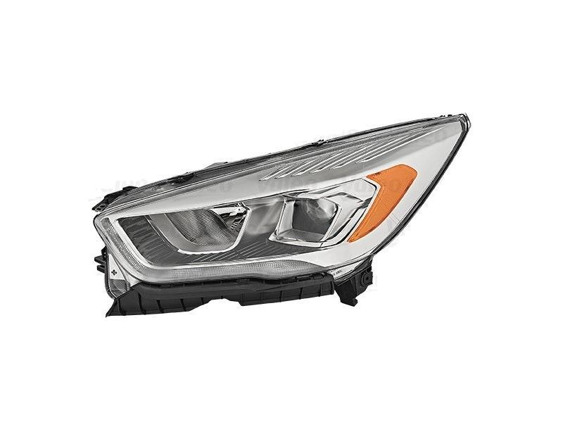 Far Ford Kuga, 02.2016-, fata, Stanga, cu LED daytime running light; H1+H7+LED; electric; transparent cu galben insert; cu motor; cu becuri; cu LED control unit;
