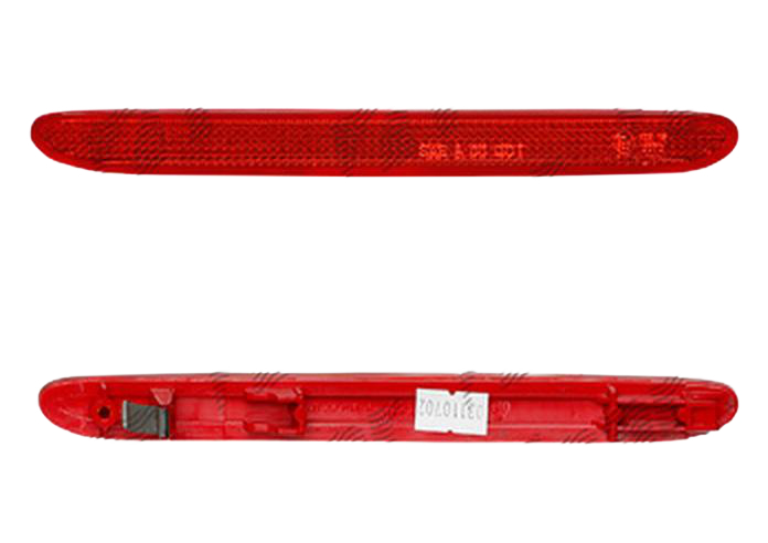 Catadioptru reflectorizant Honda Accord (Cl/Cm/Cn) Sedan/Combi (Eu), 10.2002-2008, Honda CRV (Rd), 01.2005-10.2006, Honda Element, 07.2002-12.11, in bara, Omologare ECE/SAE, spate, Stanga 210x19,6mm